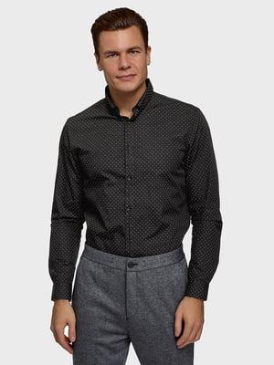 Сорочка чорна в принт | 5721132
