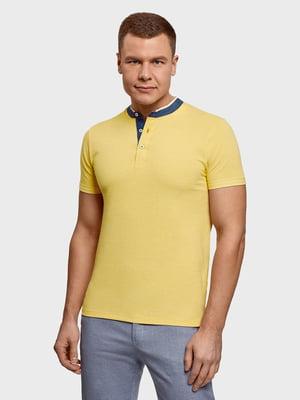 Футболка-поло желтая | 5721460