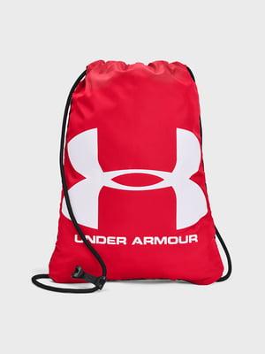 Рюкзак-мешок красный с логотипом | 5721842