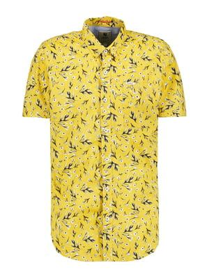 Сорочка жовта в принт | 5721982