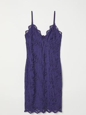 Платье синее с узором   5722204