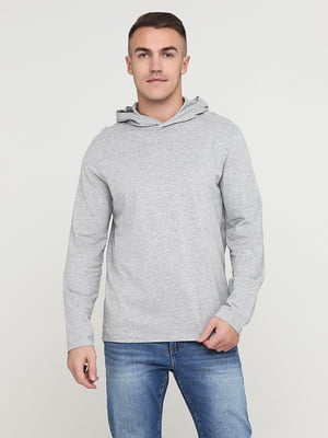 Лонгслив-худи серый | 5722244