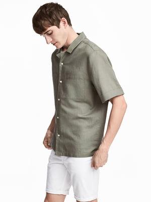 Сорочка кольору хакі | 5722303