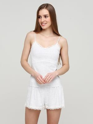 Майка піжамна біла | 5722329