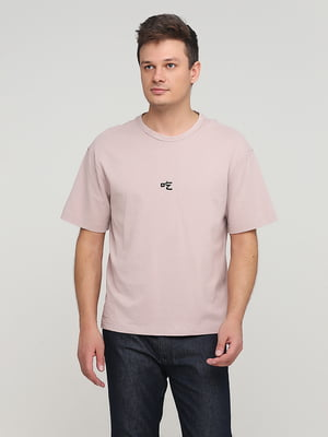 Футболка розового цвета с рисунком   5722447