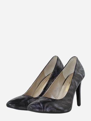 Туфлі бузкового кольору у принт   5676481