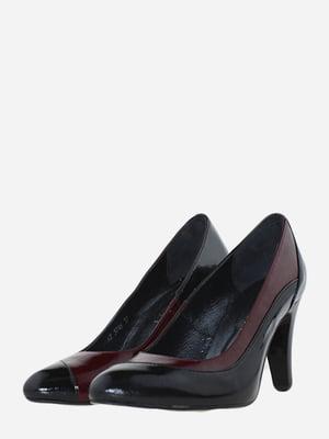 Туфлі чорно-бордові | 5685953