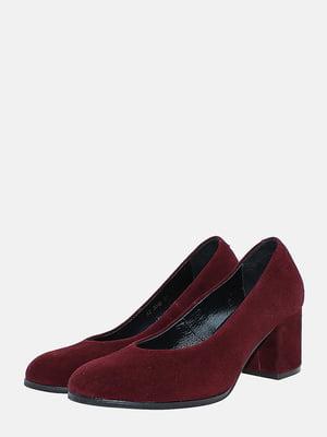 Туфлі бордові | 5718097
