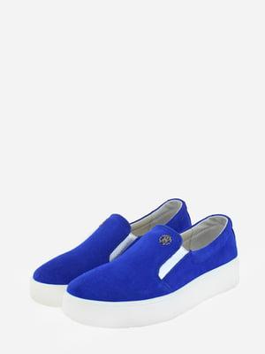 Мокасины синие   5720360