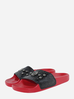 Шльопанці червоно-чорні | 5720395