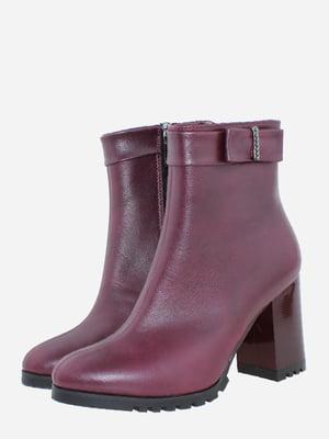Ботинки бордовые | 5725538
