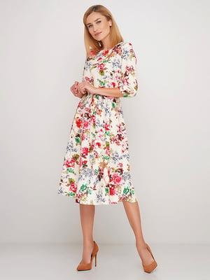 Сукня бежева у квітковий принт   5725858