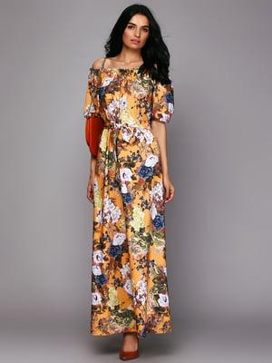 Сукня помаранчева у квітковий принт   5725857