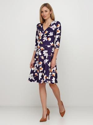 Сукня фіолетова у квітковий принт   5725863