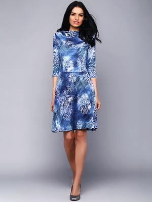 Сукня синя у принт   5725873