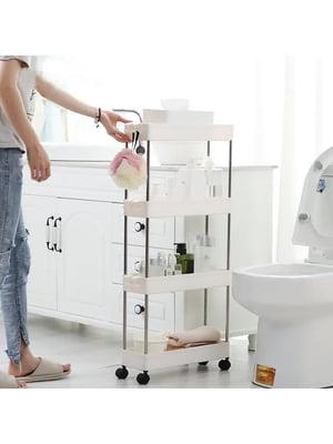 Полка для кухни и ванной на колесиках складная   5726147