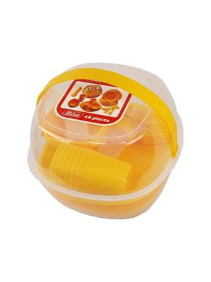 Набір пластмасового посуду для пікніку (48 предметів) | 5726180