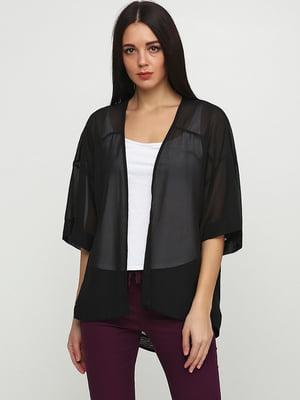 Блуза-накидка черная | 5726310