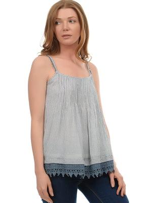 Блуза белая в клетку | 5726401