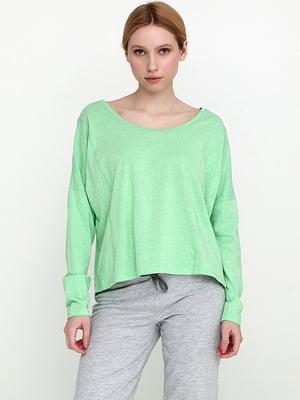 Лонгслів зеленого кольору | 5726613