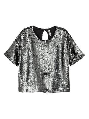 Блуза серебристого цвета   5726618
