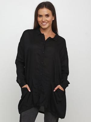 Туника-рубашка черная | 5726646