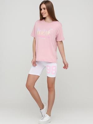 Шорты розового цвета в принт | 5726741