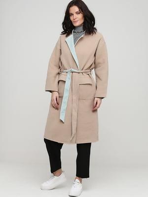 Пальто двостороннє комбінованого кольору | 5727132