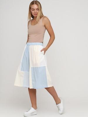 Шорти-спідниця біло-блакитного кольору | 5727181