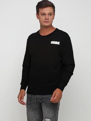 Свитшот черный с логотипом   5727217