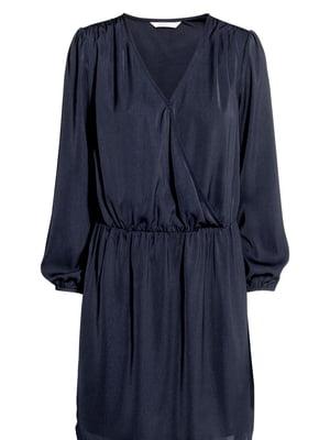 Платье для кормящих мам синее | 5727331