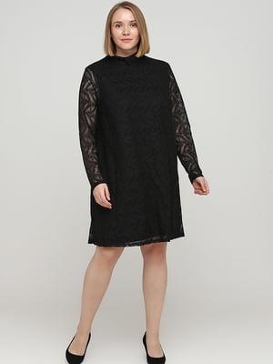 Сукня чорна з візерунком | 5727334