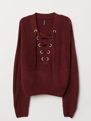 Пуловер бордовий | 5727745