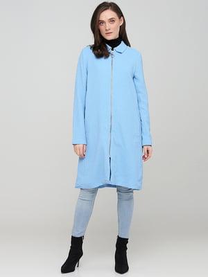 Пальто блакитного кольору | 5727880