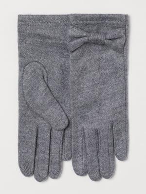 Перчатки серые | 5727913