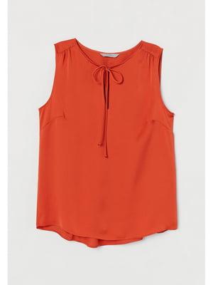Блуза теракотового кольору | 5728109