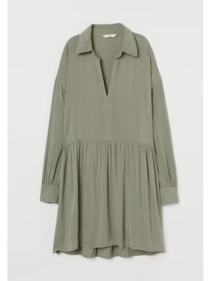 Сукня кольору хакі | 5728426