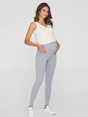 Легінси для вагітних сірі | 5728915