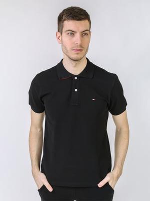 Футболка-поло чорна з логотипом   5725436