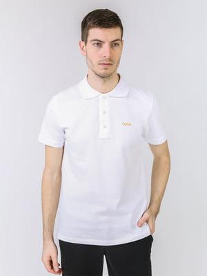 Футболка-поло белая с логотипом | 5725445