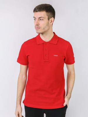 Футболка-поло красного цвета с логотипом | 5725447