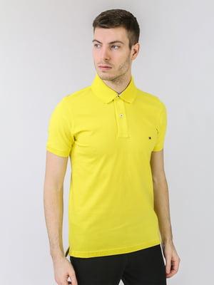 Футболка-поло жовта з логотипом   5725456