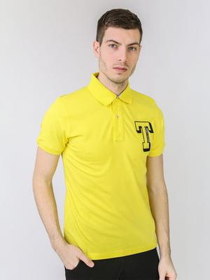 Футболка-поло жовта з логотипом   5725464