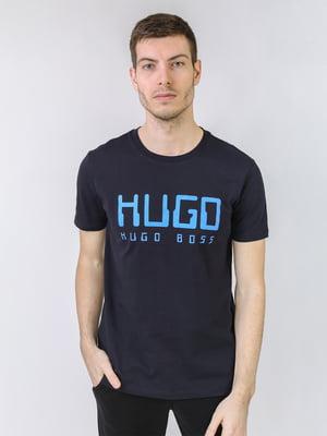 Футболка синя з логотипом | 5725498