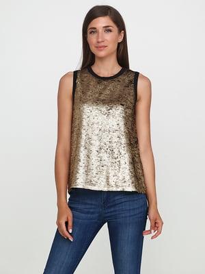 Блуза черно-золотистого цвета | 5729565