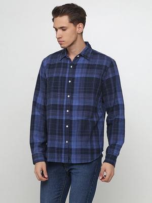 Рубашка синяя в клетку   5729598