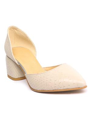 Туфлі бежевого кольору | 5721945