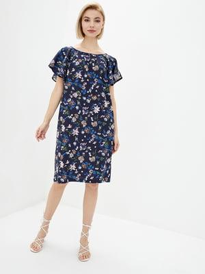 Платье синее в принт | 5729698