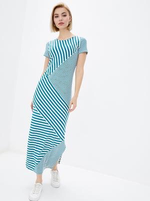 Сукня бірюзова в смужку | 5729700