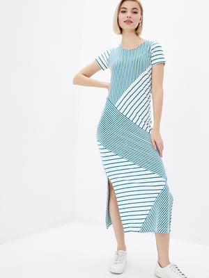 Платье двухцветное в полоску | 5729701
